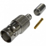 BNC female crimp connector για RG58- LMR240.