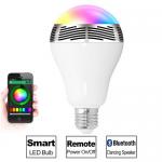 Έξυπνη λάμπα LED E27 με ηχείο και σύνδεση bluetooth που αλλάζει χρώματα και παίζει μουσική (με App για Android & iOS !)