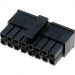 Molex 43025-1600 plug connector μαζι με τα τερματικά του.