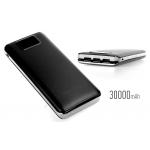 Power bank 5V/30000mAh με 3 θύρες USB και LCD οθόνη - Μαύρο