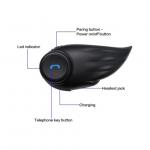 DellKing F1 Bluetooth με ακουστικά, μικρόφωνο και ασύρματο PTT για κράνος μοτοσυκλέτας