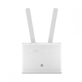Huawei B315s-22 επαγγελματικό 4G/LTE WLAN router με υποδοχή για κάρτα sim -υποστήριξη DynDNS & VoIP- σε λευκό χρώμα.