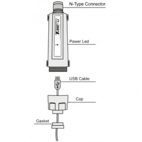 ALFA Network [Tube-U(G)] Αδιάβροχη εξωτερική κάρτα δικτύου Wi-Fi 2.4Ghz μεγάλης εμβέλειας 150Mbps Realtek RTL8187 **ΣΕΤ μαζι με αδιάβροχη κεραία WiFi.