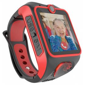 Myki™ Junior ΜΑΥΡΟ-ΚΟΚΚΙΝΟ παιδικό ρολόι- 3G κινητό με κάμερα, GPS και δυνατότητα Video-κλήσης !